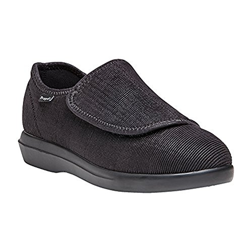 Corduroy Foot Cleaner Oxy Black Propet Women's Bundle Cush'N Slipper amp; YPzRwE
