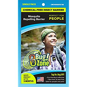 0Bug!Zone People Mosquito Barrier Tag, Single Pack 105