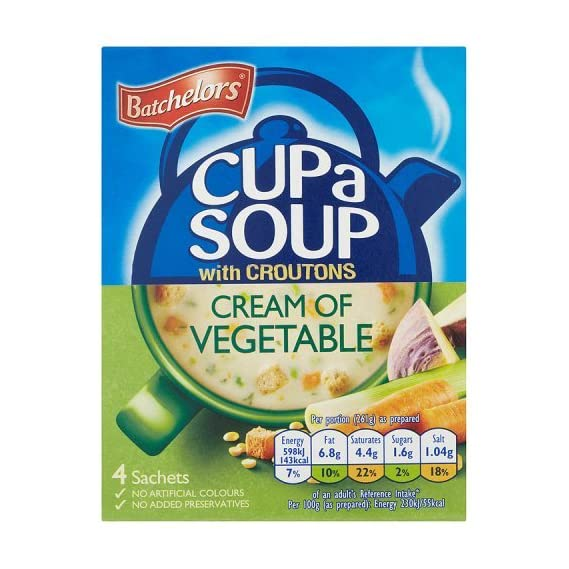 Batchelors Cup a Soup, Creamy Vegetables and Croutons, 122g