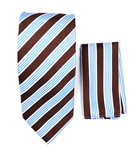 light blue and brown tie - 1