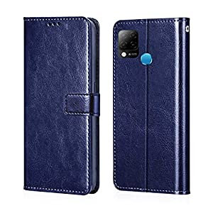 GLOVER® Infinix Hot 10s PU Leather Flip Cover Wallet Case Cover for Infinix Hot 10s