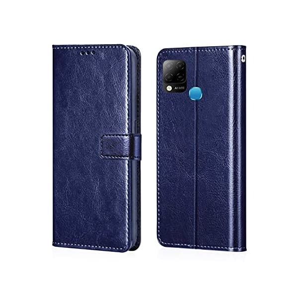 GLOVER® Infinix Hot 10s PU Leather Flip Cover Wallet Case Cover for Infinix Hot 10s 2021 July MATERIAL: Made of Synthetic PU leather & durable hard PC inner, Specifically build for your precious Phone only, Showing an elegant book style looking ACCURATE CUTTING: The precise cutouts make it convenient access to all functions of your Phone so that all the features can be awaken sensitivity CONVENIENT CARD SLOTS:NO need to bring your pocket anymore. Your smart alternative wallet case can hold up to 3 cards or cash safely.