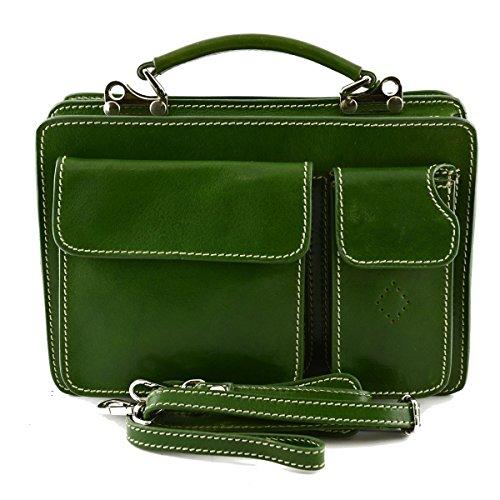 Business Made In In Cartella Mod Pelle Toscana Italy Colore Verde Vera Mini Pelletteria 1BB7Oq