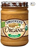 Smucker's Organic Chunky Peanut Butter, 16-Ounce (Pack of 4) by Smucker's
