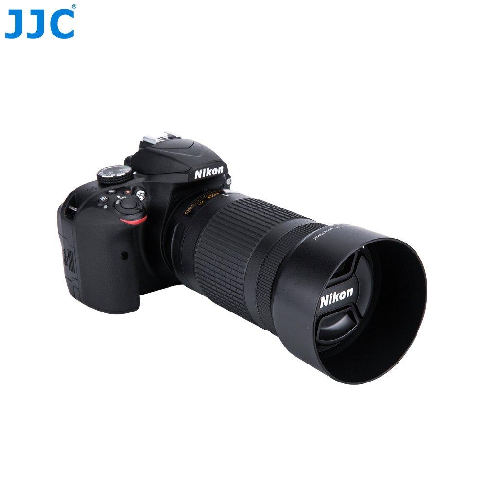 JJC Reversible Dedicated Lens Hood for Nikon AF-P 70-300mm Lens replaces Nikon HB-77 Lens Hood Nikon AF-P DX NIKKOR 70-300mm f//4.5-6.3G ED VR /& Nikon AF-P DX NIKKOR 70-300mm f//4.5-6.3G ED