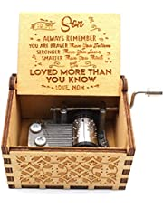 You are My Sunshine Wooden Music Box, Laser Engraved Hand Crank Classical Sunshine Music Box Giftsfor Birthday/Christmas/Valentine's Day.
