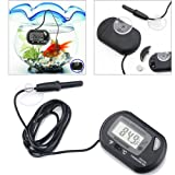 Mystyleshop LCD Digital Fish Tank Reptile Aquarium Water Meter Thermometer Temperature