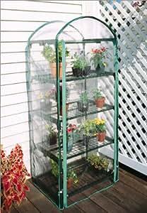 4 Tier Indoor / Outdoor Juliana Plant Growing Rack - A Small Greenhouse to Grow Plants, Flowers, Seedlings