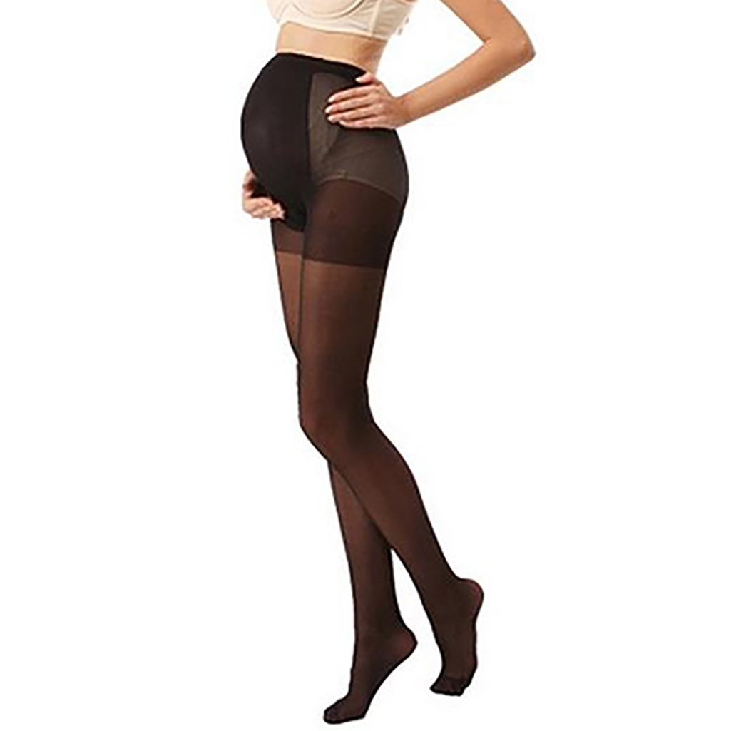 Trenton Pregnant Women's Plus Size Silky Stockings Pantyhose Stretchy Tights