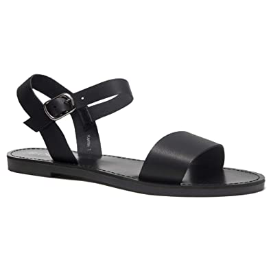 cb552096046c7 Herstyle Women's Keetton Open Toes One Band Ankle Strap Flat Sandals