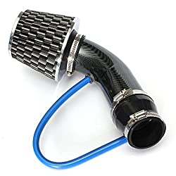 AUDEW Universal Performance Induction Cold Air Intake Filter Alumimum Pipe HOSE System Carbon
