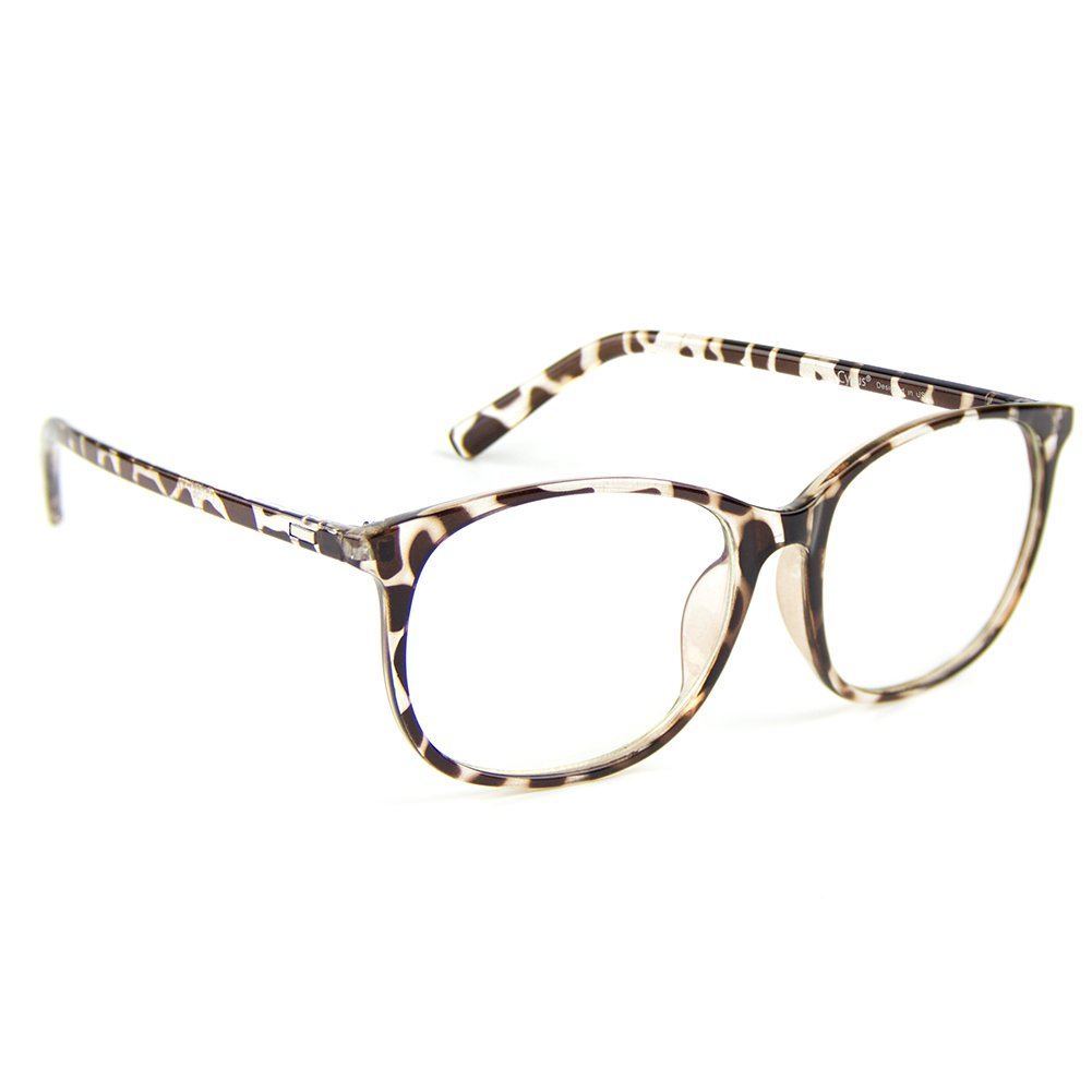 8181f75130 Amazon.com  Cyxus Blue Light Filter Computer Glasses for Blocking UV  Headache  Anti Eye Fatigue  Transparent Lens Unisex (Leopard Print)  Health    Personal ...