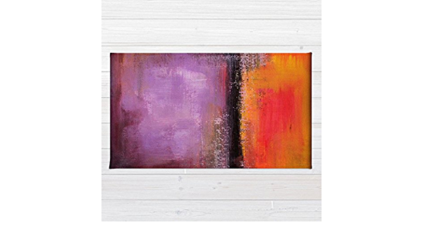 Orange And Purple Area Rug Abstract Landscape Abstract Sunset Handmade