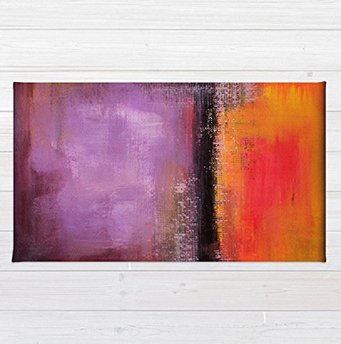 Orange and Purple Area Rug – Abstract Landscape – Abstract Sunset