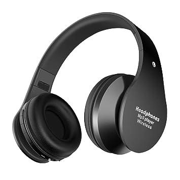 Alitoo Auriculares Bluetooth Inalámbricos,Cascos Bluetooth Plegable con Micrófono Manos Libres y Hi-Fi Sonido Estéreo 12 Horas Reproducción de Música ...