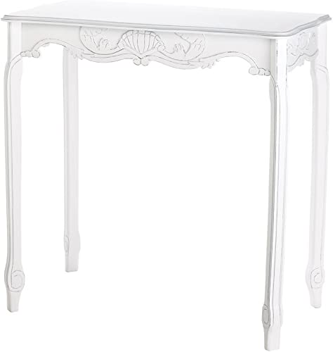 Furniture Creations White Scallop Detail Hall Table