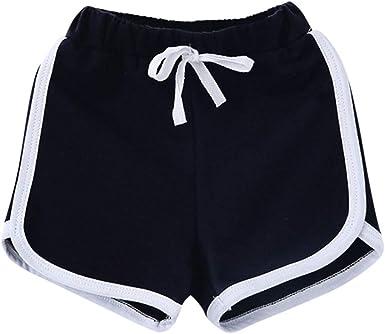 Amuse Miumiu Pantalones Cortos Para Ninas 100 Algodon Para Gimnasio Deportes A La Moda Para Verano 2 3 4 5 6 7 8 9 10 11 12 13 Anos Amazon Es Bebe