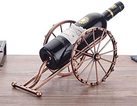 Aiglen Modelo de cañón de Arte de Hierro Antiguo, Soporte para Botella de Vino, artillería metálica Decorativa, Estante para Vino en Miniatura, Adorno para Bar, artesanía