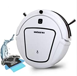 Amazon.com - D730 Clean Robot Aspirator with Wet/Dry Mop Water Tank, Time Schedule, Auto Recharge Smart Cleaner, Seebest D730 MOMO 2.0 - White Color -