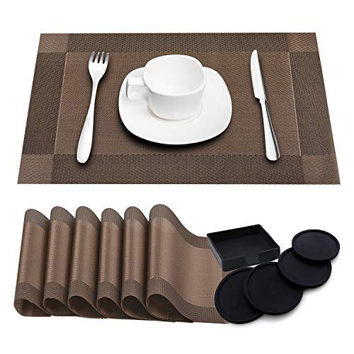 Table & Sofa Linens Lower Price with Hot Sale Pvc Placemats Bamboo Woven Pattern Non-slip Table Mat Dish Bowl Pad Coasters Heat Insulate Reliable Performance