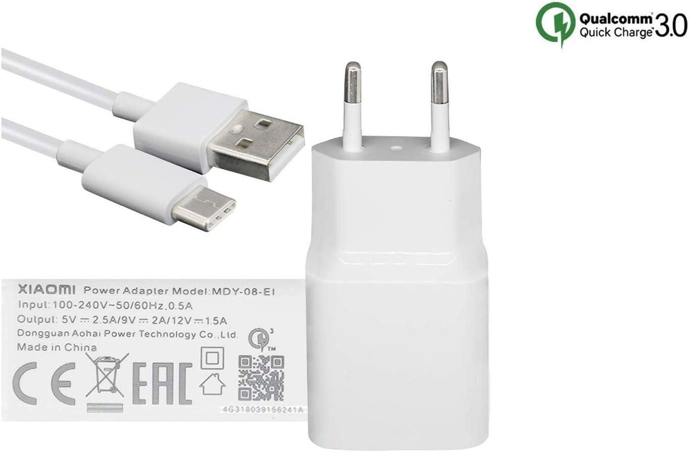 MDY 08 EI (18W) USB C QC3.0 Cargador Rápido Compatible con Xiaomi Mi 6, Mi 8 SE, Mi MAX 3, Pocophone F1, Mi 8 Lite, Blanco