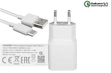 MDY-08-EI (18W) USB-C Cargador Carga Rapida 3.0 Compatible con Xiaomi Mi 5, Note 2, Mi Mix, Mi 6, Mi MAX 2, Blanco