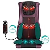 Naipo Back and Neck Massager Shiatsu Massage Chair Seat Cushion...