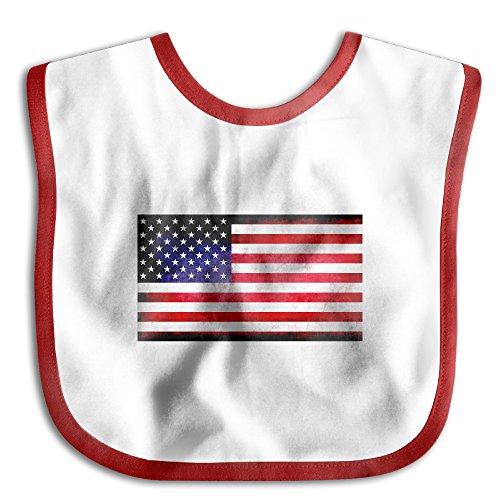 ElinaDesdemona Grunge Usa Flag Boy Funny Waterproof Bibs Boy And Girl Saliva Towel - Grunge Bib