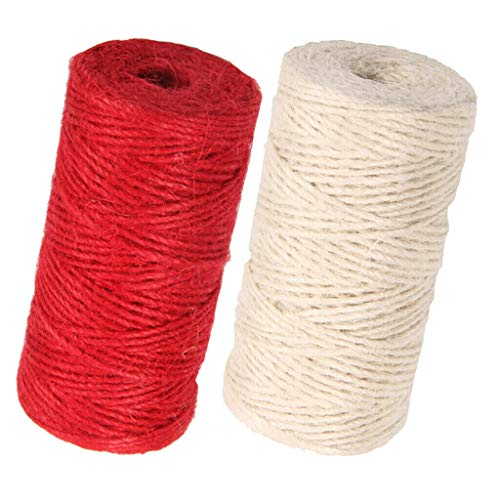 2 Rolls of 328ft Jute Cord String Durable Gift Wrapping Twine Rope