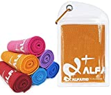 wwww Balhvit Cooling Towel Evaporative Chilly Towel For Yoga Golf Travel-Orange-Large (47x14-Inch)