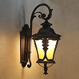 TOYM US European-style outdoor villa courtyard facade door wall lamp waterproof large balcony terrace flower tail lights