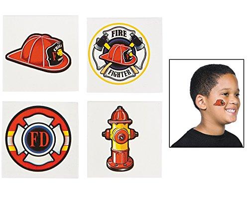 Fun Express Firefighter Tattoos - 72 pcs -