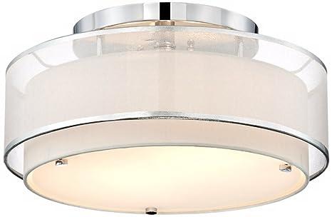 Possini Euro Design Double Organza 16 Wide Ceiling Light Ceiling