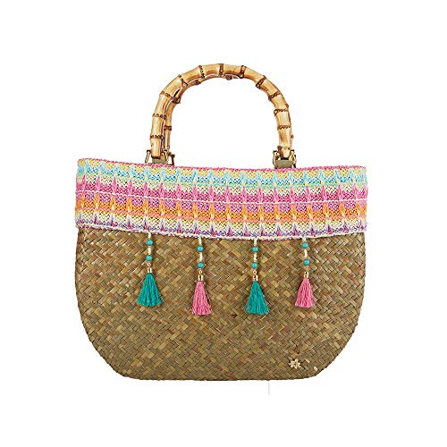 Large Tote Bag for Women - Cappelli Straworld Luxury Seagrass Bag