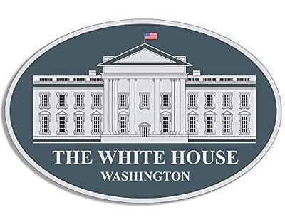 American Vinyl Oval THE WHITE HOUSE Seal Sticker (potus whitehouse trump obama)