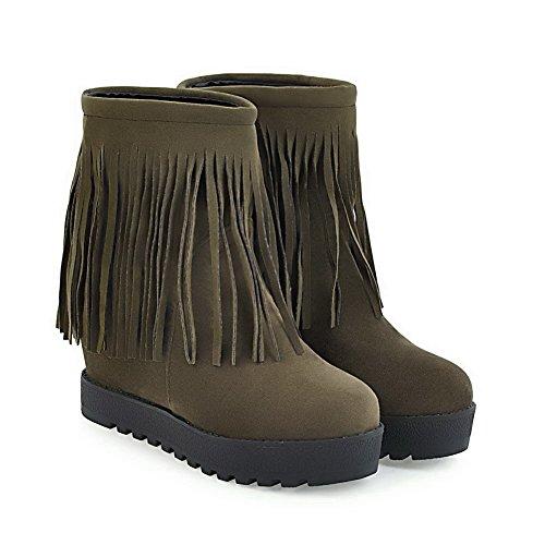 Womens Tassels Suede ABL10202 BalaMasa Dress Boots Army Green Resistant Slip gZwRWP1pSq