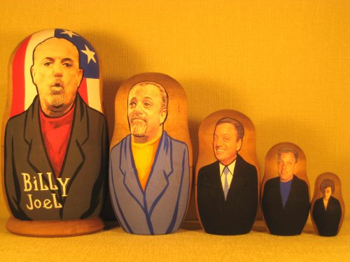 Billy Joel Russian Nesting Doll Hand Made 5 Pcs / 6 in by hand made (Image #1)