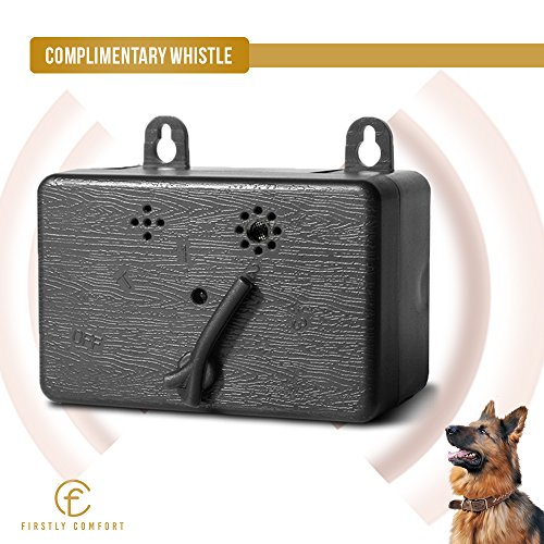 UPGRADED Anti barking device - dog bark control devices - Ultrasonic dog bark deterrent - bark box - outdoor/indoor - small - silencer - no collar - wireless - automatic -HUMANE - training whistle by Firstly Comfort