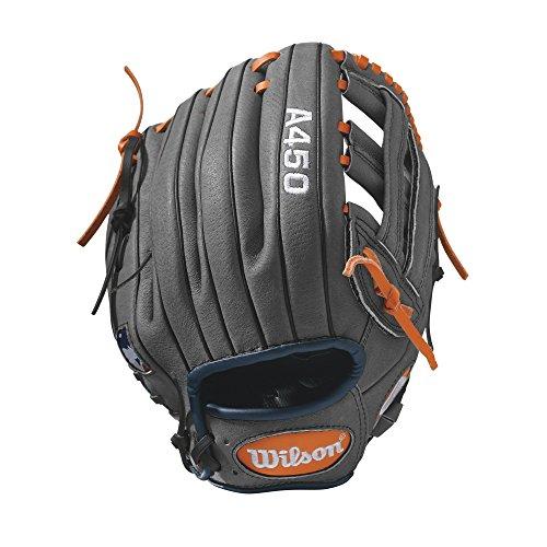 "Wilson Advisory Staff David Wright Baseball Glove, 11"", Charcoal/Orange/Royal, Right Hand Throw"