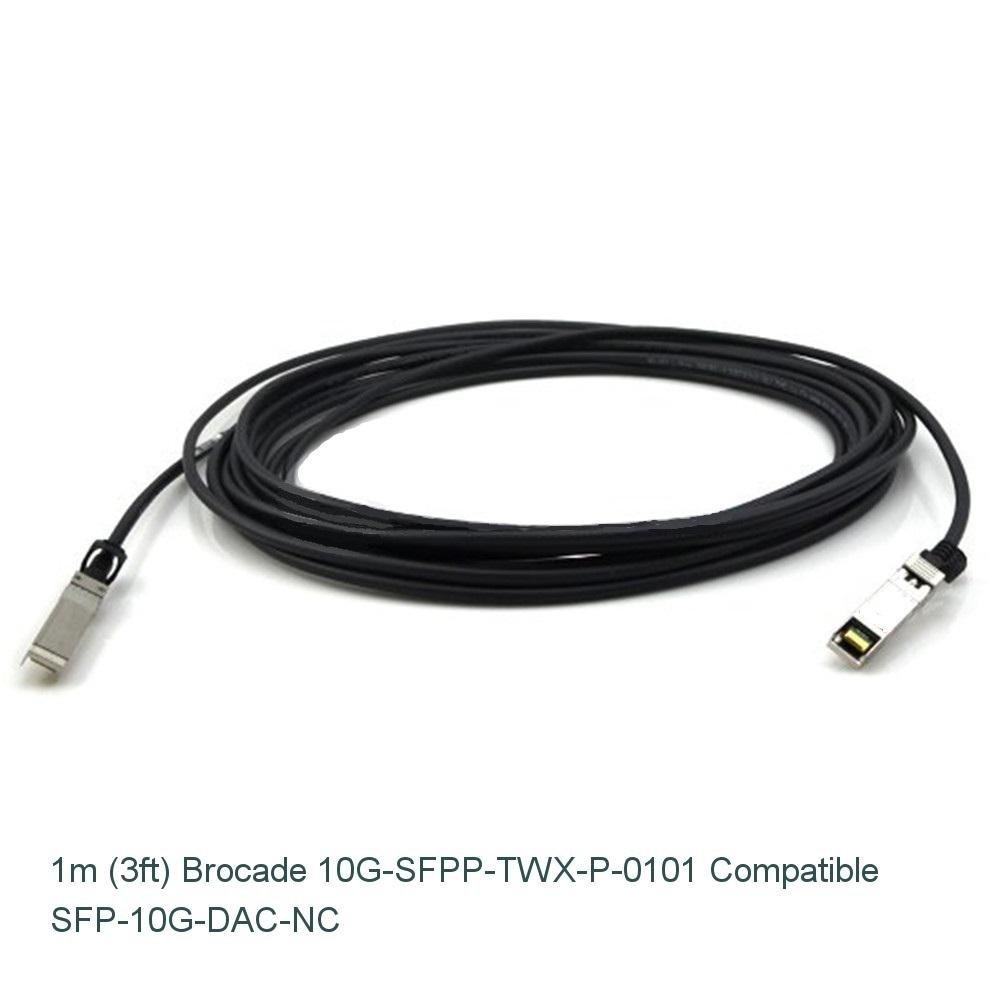 Amazon.com: 1m (3ft) Brocade 10G-SFPP-TWX-P-0101 Compatible 10G SFP+ ...