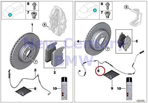 BMW Genuine Rear Brake Pad Wear Sensor M6 M6 M5 M6 M6 M6 M6