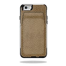 MightySkins Protective Vinyl Skin Decal for OtterBox CommuteriPhone 6/6S Wallet Case wrap cover sticker skins Sandlwood Leather