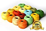 Arts & Crafts : LE PAON Soft 10g Cotton Balls Rainbow Colors of Size 8 Perle/pearl Cotton Threads for Crochet, Hardanger, Cross Stitch, Needlepoint Hand Embroidery. All Different Colors (Orange Series)