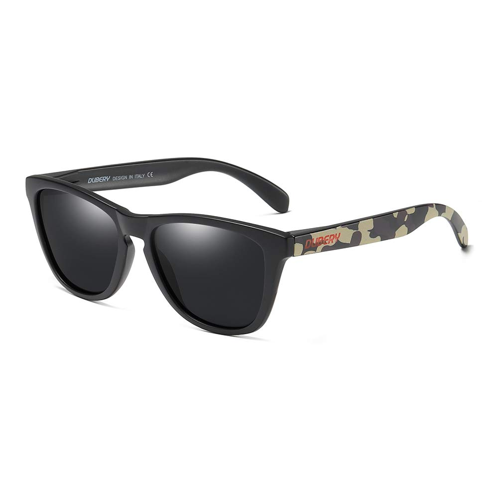 DUBERY Men Women Polarized Plastic Sunglasses Outdoor Driving Fishing Sport Glasses (#8) by DUBERY