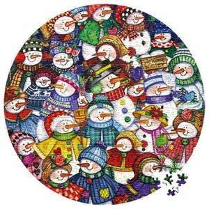 Snow Happy Round Puzzle 1000 Pieces