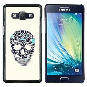 """Be-Star Único Patrón Plástico Duro Fundas Cover Cubre Hard Case Cover Para Samsung Galaxy A5 / SM-A500 ( Azul Beige cráneo del trullo Muerte de tinta del tatuaje"""" )"""