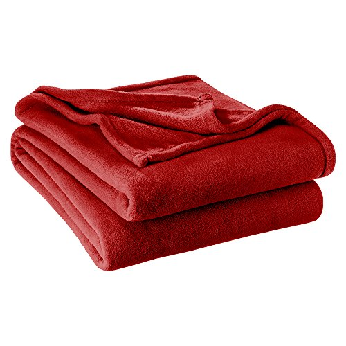 Ivy Union Ultra Soft Microplush Velvet Blanket - Luxurious Fuzzy Fleece Fur - All Season Premium Throw Blanket (Throw/Travel, (Red Fleece Blanket)