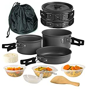 Amazon.com : Wealers Camping Cookware 11 Piece Outdoor