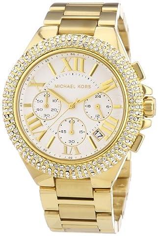 Michael Kors MK5756 Women's Camille Gold-Tone Glitz Stainless Steel Bracelet Watch (Michael Kors Bradshaw Watch 43mm)