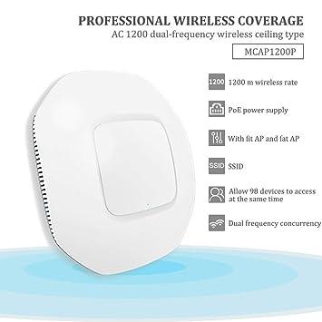 1200P1200M enrutador de doble frecuencia techo AP estándar AP inalámbrico energía Hotel hotel cobertura negocio enrutador inalámbrico WiFi administración de ...